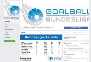 Screenshot Goalball Bundesliga Facebook-Seite