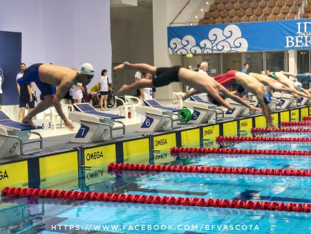Start Nico Clemens über 50m Freistil