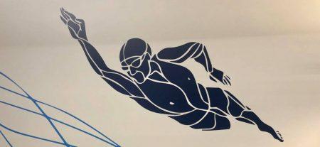 Malerei Schwimmer