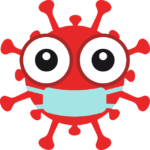 Symbol Coronavirus mit Maske