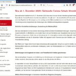Screenshot coronavirus.sachsen.de vom 29.11.2020